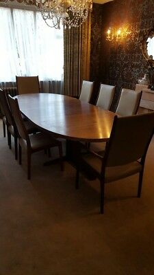 Danish Rosewood Table And Eight Chairs, retro antique, mid century ?75.