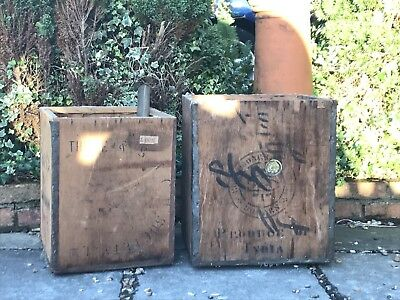 Vintage wooden tea chests/caddies - 10 available