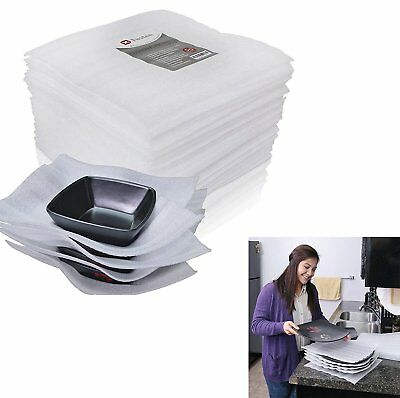 50 Pack Cushion Foam Sheets, Moving and Packing Supplies, Safely Wrap Dishes