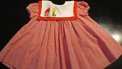 Vintage Red and White Striped Baby/Toddler Dress by Jayne Copelana