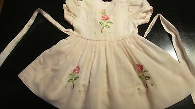 Vintage Pink Baby/Toddler Dress with Attached Slip on Bottom