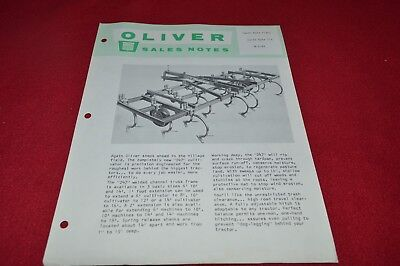 Oliver Tractor Clodbreakers Sales Notes Dealer/'s Brochure YABE15