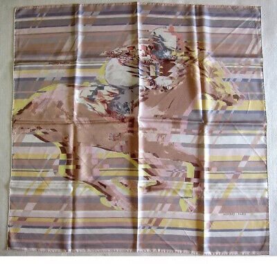 pre-loved authentic HERMÈS silk scarf PHOTO FINISH