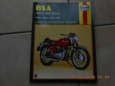 Bsa A50 & A65 Twins Haynes Workshop Manual