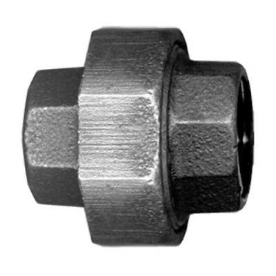 "1/2"" Inch Union Black Malleable Iron Pipe Fittings Threaded Plumbing - Bi-104-D"