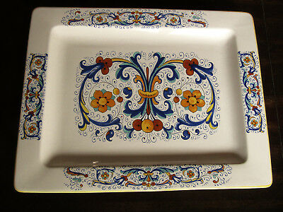 CERAMICHE DERUTA MADE in Italy Large Rectangular Serving Platter 17 ...