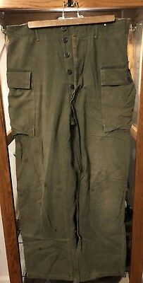 Original WWII US Army Second Pattern HBT Trousers