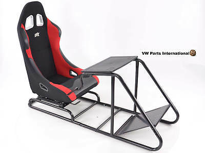 Car Gaming Racing Sim Chair Bucket Seat for PS4 PS3 PC XBOX Forza NFS lack/Red