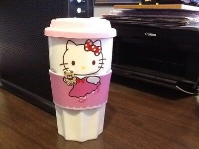 Sanrio Hello Kitty 12oz Ceramic Thermal Cup with Sleeve And Silicon Lid