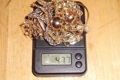 47.7 Grams Of 14 Kt Gold Wearable And Scrap Gold