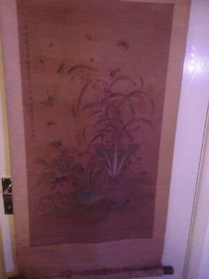 antique chinese Scroll painting no reserve.