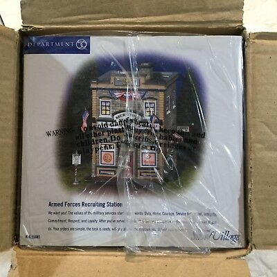 Dept 56 Snow Village® ARMED FORCES RECRUITING STATION -  BRAND NEW STILL IN CASE