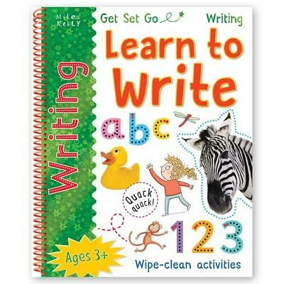 48 Pages Learn to write LETTERS NUMBERS COLOURS SHAPES Wipe Clean Activity Book