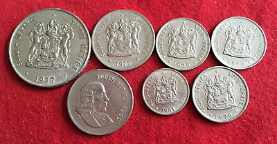 7 Mid 20th Century Coins from South Africa - AU Sharp Features of Mixed Lot