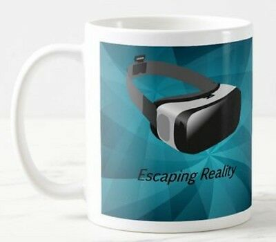 'Escaping'  VR Virtual Reality Glasses Headset Goggles Games Funny Mug Gift