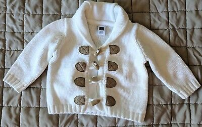 Janie and Jack infant baby o-3 months white cardigan