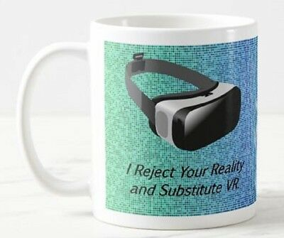 Reject Your Reality Virtual VR Glasses Headset Goggles Games Funny Mug Gift
