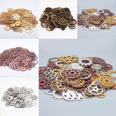 25/50/100g Vintage Metal Gear Accessories Steampunk Parts Jewelry Finding Making