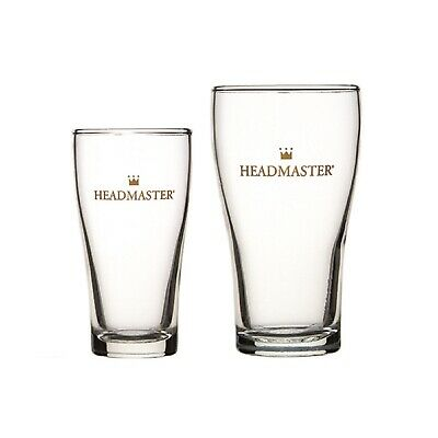 CROWN NUCLEATED HEADMASTER GLASSES Beer Schooner Pot Durable Commercial Brewery