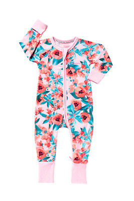 * BONDS * Sz 1 12-18 months zip wondersuit in Hazy Shade floral print! NWT