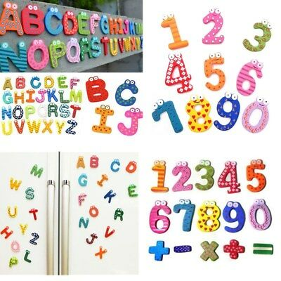 3Styles Wooden Fridge Magnet Alphabet Number Kids Educational Toy Baby Gift