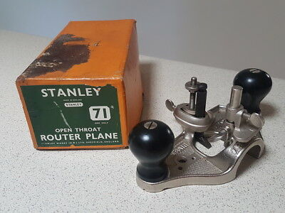 Stanley 71 Open Throat Router Plane made in England