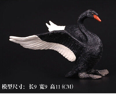 wild life zoo farm animal black Swan figures goose figurine kids educational toy