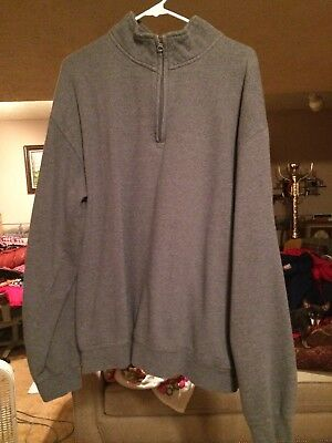 Papa Johns Pizza pull over cotton Fleece grey rare 3xl xxxl
