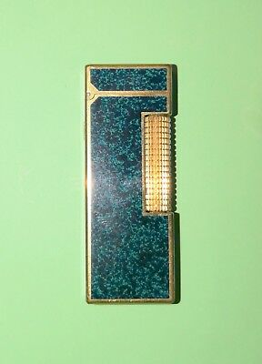 Dunhill Lighter, Blue Lacquer, Vintage, Working