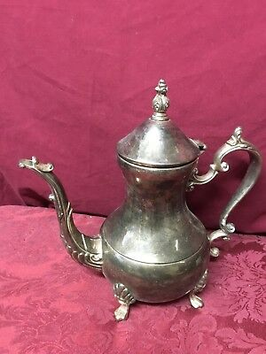 "Vintage Antique 11"" Silver Plated Large Victorian Style Teapot SHIPS RIGHT NOW!"