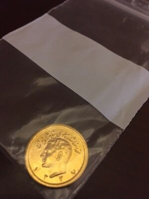 Gold Iran 1 Pahlavi Coin, up for auction with no reserve