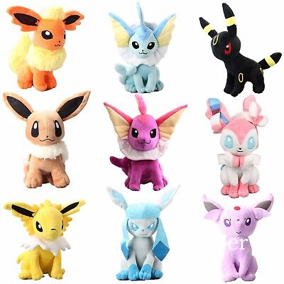 12'' Big Pokemon Evolution of Sit Eevee Sylveon Umbreon Vaporeon Plush Doll Toy