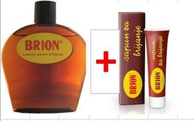 Brion After-Shave-Lotion + Brion shaving cream soap
