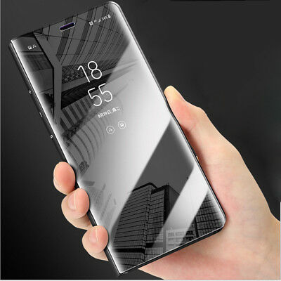 Clear View Mirror Case for iPhone 8 7 Plus Full Protect Flip Leather Stand Cover