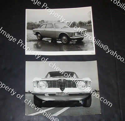 1963 1964 65 ALFA ROMEO Giulia 1600 Sprint GT Sports Car 2 PRESS PHOTOS Bertone