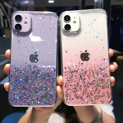 Bling Glitter Soft Shockproof Silicone Case Cover For iPhone XS Max X 8 7 Plus