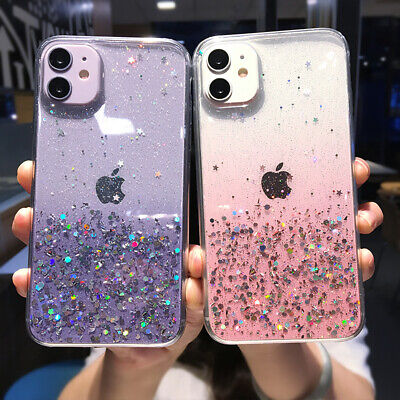 Luxury Bling Glitter Soft Shockproof Silicone Case Cover For iPhone X 8 7 Plus