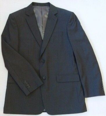 Myer Bracks Mens 2 Piece Suit-Charcoal with Pin Stripe 102R / 97S Jacket / Pants