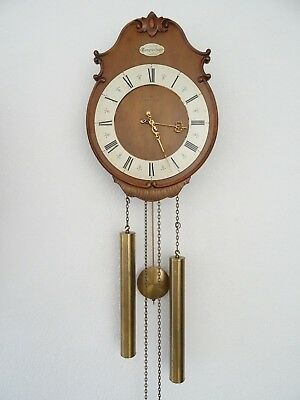 Junghans Vintage Antique German Wall Clock 8 day (Kienzle Mauthe Hermle era)