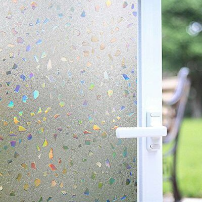 BLOSS 3D NON Adhesive Static Cling Film Stained Glass Window Film