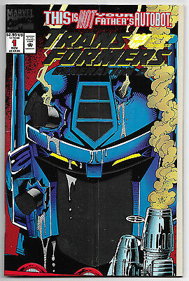 Transformers Generation 2 #1 (Nov 1993, Marvel Comics) Bi Fold Metallic Cover
