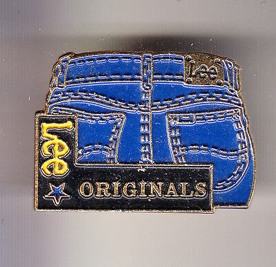 Rare Pins Pin's .. Mode Fashion Jeans Lee Cooper Trade Mark Original Bleu ~Cf