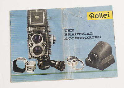 Rollei The Practical Accessories Rolleicord Rolleiflex Camera Brochure