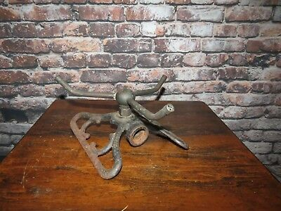 Vintage Cast Iron Lawn Sprinkler Art Deco Butterfly With  Three Way Spinner