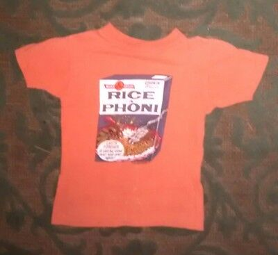 Vintage Wacky Packages RICE A PHONI Original Kids T Shirt 1970's