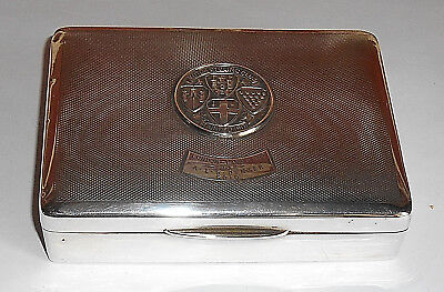 Antique Silver Cigarette Box  Motorcycle Club London To Lands End Trophy 1932