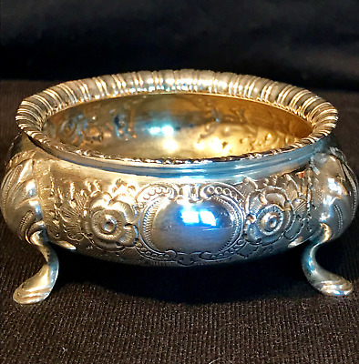 Victorian Solid Sterling Silver Salt by Martin Hall & Co Hallmarked London 1876