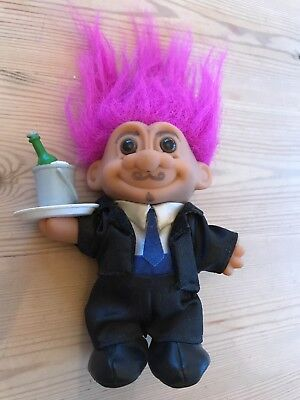 Russ Troll Doll Collectable Waiter Rox 5 Inches Excluding Hair