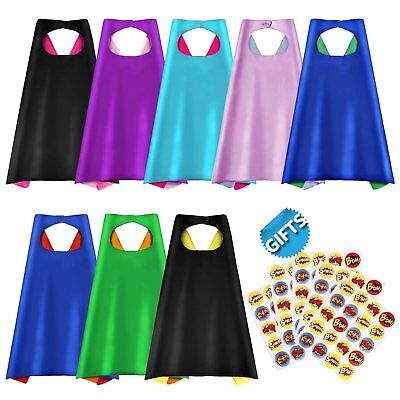 Superhero Capes, Party Dress Up Cape, Reversible Dual Color Party Costume with
