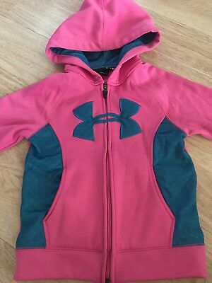 Under Armour Full Zip Hoodie Jacket Pink Blue Youth Girls 6